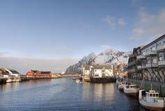 Svolvaer vissershaven in de Lofoten-Eilanden - 2 Stock Foto
