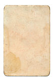 Svuoti e carta da gioco di lerciume isolata su fondo bianco Immagini Stock