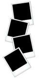 Svuoti gli spazii in bianco del polaroid Fotografie Stock Libere da Diritti
