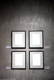 Svuoti i blocchi per grafici sulla parete dell'intonaco Fotografia Stock Libera da Diritti