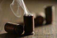 Svuoti i bossoli della pallottola di 9mm Immagine Stock