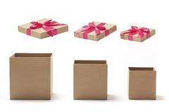 Svuoti i contenitori di regalo aperti Immagine Stock