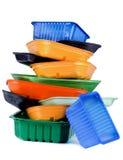 Svuoti i vassoi riciclati Fotografia Stock Libera da Diritti
