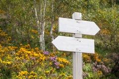 Svuoti il cartello nelle montagne Fotografia Stock