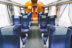 Svuoti il compartimento del treno Fotografie Stock