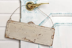 Svuoti il contrassegno su una maniglia di portello Fotografia Stock