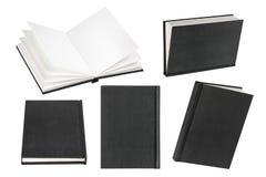 Svuoti il libro nero su fondo bianco con lo spazio della copia Fotografie Stock