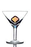 Svuoti il vetro del martini Immagine Stock