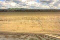 Svuoti la diga superiore della centrale elettrica di energia idroelettrica di pompaggio in repubblica Ceca Immagini Stock Libere da Diritti