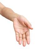 Svuoti la mano aperta della donna Fotografie Stock