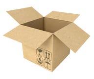 Svuoti la scatola di cartone aperta Immagine Stock Libera da Diritti