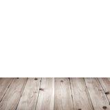 Svuoti la tavola di legno della piattaforma con la tovaglia per il montaggio del prodotto Fotografia Stock Libera da Diritti