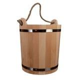 Svuoti la vasca di legno isolata Fotografia Stock