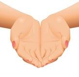 Svuoti le mani aperte della donna Fotografie Stock
