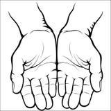 Svuoti le palme aperte Fotografia Stock