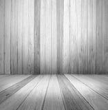 Svuoti un interno di legno bianco di stanza d'annata Fotografia Stock Libera da Diritti