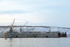Sväva skeppsdocka Arkivbild