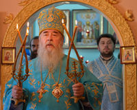 Svyaschennik.Mitropolit Dnepropetrovsk Ucrânia Fotografia de Stock Royalty Free