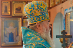 Svyaschennik.Mitropolit Dnepropetrovsk Ucrânia fotos de stock royalty free
