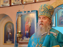 Svyaschennik.Mitropolit Dnepropetrovsk Ucrania Imagenes de archivo