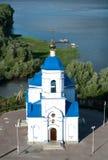 Svyato-Bogorodicky monastery and Volga river, Russia Royalty Free Stock Photography
