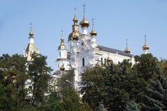Svyato-Pokrovskiy muzhskoy monastyr. Svyato Pokrovskiy muzhskoy monastyr in Kharkov city Stock Photo