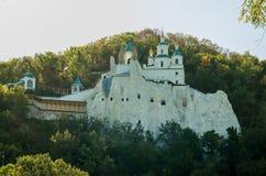 Svyato-uspenskaya lavra. Building of Svyatogorska Lavra in mountains Royalty Free Stock Image