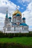 Svyato-Uspenskiy大教堂在鄂木斯克 免版税库存照片