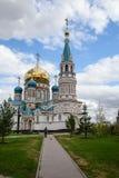 Svyato-Uspenskiy大教堂在鄂木斯克 免版税库存图片
