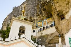 Svyato-Uspensky cave monastery Stock Photos