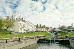 svyato vitebsk för belarus duhovkloster Arkivbild