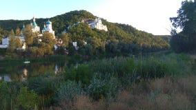 Svyatogorsk-Fluss Donec-Ansicht, Ukraine Stockfotografie