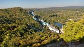 Svyatogorsk-Fluss Donec-Ansicht, Ukraine Lizenzfreies Stockbild