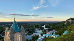 Svyatogorsk-Klostervogelperspektive, Ukraine Lizenzfreies Stockfoto