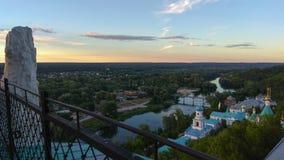 Svyatogorsk-Klostervogelperspektive, Ukraine Lizenzfreie Stockbilder