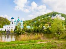 Svyatogorsk monastery landscape Stock Photography