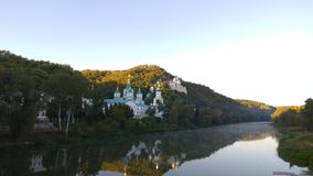 Svyatogorsk von Fluss Donec-Ansicht, Ukraine Lizenzfreie Stockfotografie