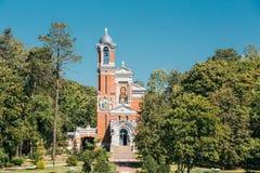 Svyatopolk-mirsky家庭教堂埋葬穹顶在Mir,白俄罗斯的 库存图片