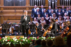 Svyatoslav Belza announces symphony orchestra Stock Images