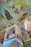Svyatotroitsky亚历山大Svirsky修道院,三位一体的壁画的片段 免版税库存图片