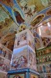Svyatotroitsky亚历山大Svirsky修道院,三位一体的壁画的片段 图库摄影