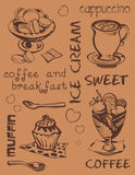 Swеet και καφές Στοκ Εικόνες
