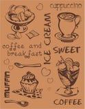 Swеet und Kaffee Stockfoto