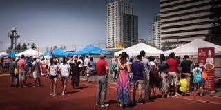 Swój Chiński festiwal w central park Burnaby Kanada fotografia stock