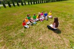 Swój notatki w obozie letnim obraz royalty free