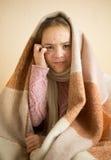 Swędząca mała dziewczynka z chickenpox Obraz Royalty Free