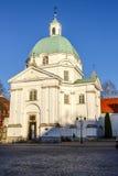 Sw卡齐米日教会,华沙,波兰 库存图片