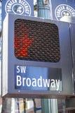 SW Бродвей Портленд - ПОРТЛЕНД - ОРЕГОН - 16-ое апреля 2017 Стоковое фото RF