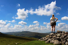 SW across Mallerstang from Tailbridge Hill Cumbria Stock Images