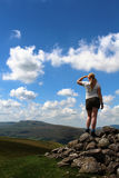 SW across Mallerstang from Tailbridge Hill Cumbria Royalty Free Stock Image